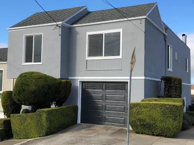 San Francisco County Single Family Home For Sale: 791 Colby Street