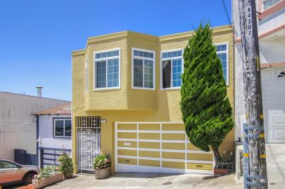 San Francisco Single Family Home Pending Show For Backups: 58 Bishop Street