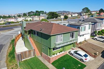 Daly City Single Family Home For Sale: 201 Skyline Drive
