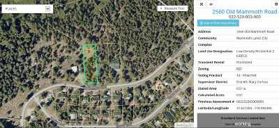 Mammoth Lakes Residential Lots & Land For Sale: 2560 Old Mammoth Road