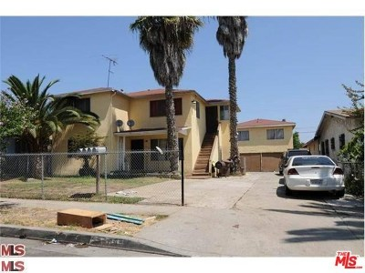 Los Angeles Multi Family Home For Sale: 1055 W 104th Street