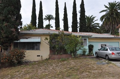 Lemon Grove Single Family Home For Sale: 2458 Buena Vista Ave