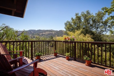 Topanga Single Family Home For Sale: 1798 Deerhill Trail