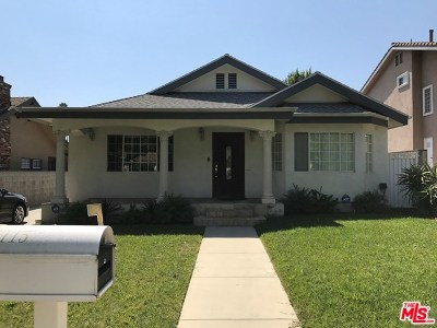 Pasadena Single Family Home For Sale: 1115 Wesley Avenue
