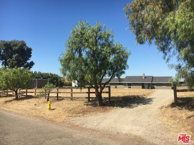 Santa Ynez CA Single Family Home For Sale: $1,390,000