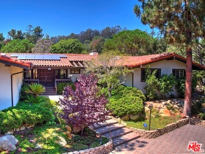 Santa Barbara County Single Family Home For Sale: 120 Summit Lane