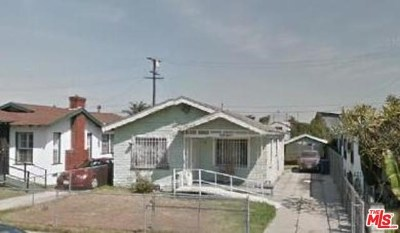Los Angeles Single Family Home For Sale: 1219 E 73rd Street
