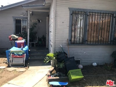 Los Angeles Single Family Home Active Under Contract: 1620 W 104th Street