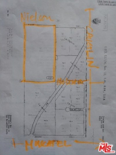 San Bernardino County Residential Lots & Land For Sale: Nielson