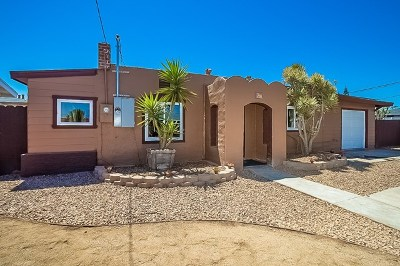 Imperial Beach Single Family Home For Sale: 931 Cypress