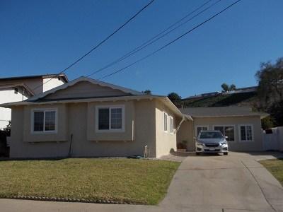 Lemon Grove Single Family Home For Sale: 1629 Primera St