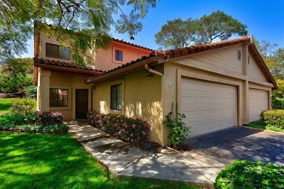 Fallbrook Condo/Townhouse For Sale: 1718 Tecalote Drive #24