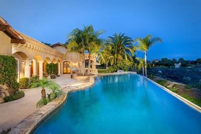 San Deigo, San Diego, San Diego/north Pacific Beach Single Family Home For Sale: 4215 Rancho Las Brisas Trl