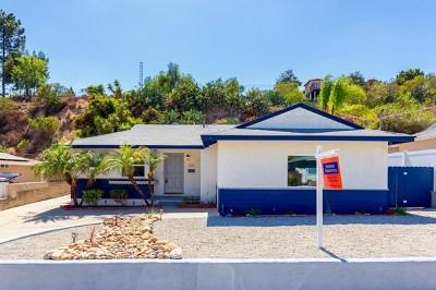 La Mesa Single Family Home For Sale: 5806 Nagel Street