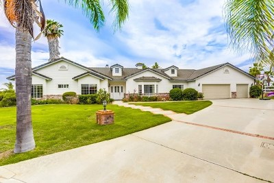 Fallbrook Single Family Home For Sale: 2090 Lemon Blossom Ln