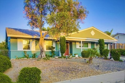 San Diego CA Single Family Home Active Under Contract: $519,000