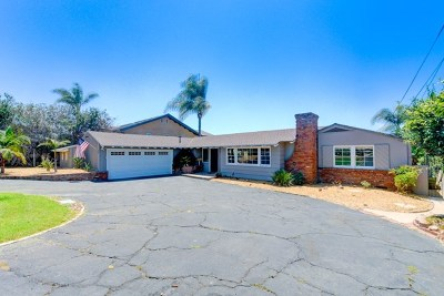 Oceanside Single Family Home For Sale: 1737 Hunsaker St.