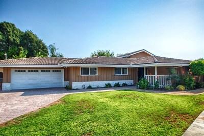 Oceanside Single Family Home For Sale: 1405 Crestridge