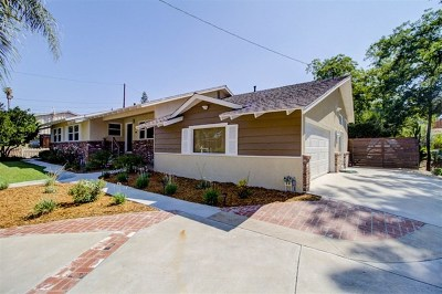La Mesa Single Family Home For Sale: 9324 Carmichael Dr
