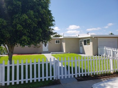 National City Single Family Home For Sale: 3923 E Plaza Blvd