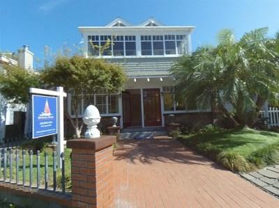 Coronado Single Family Home For Sale: 1027 G Avenue