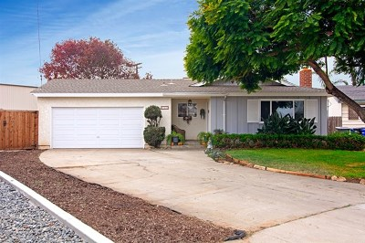 Imperial Beach Single Family Home For Sale: 727 Iris Ave