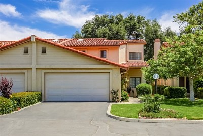 Fallbrook Condo/Townhouse For Sale: 1718 Tecalote Dr #9