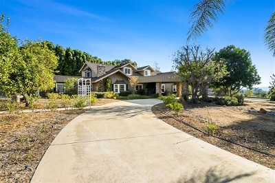El Cajon Single Family Home For Sale: 10461 Quail Canyon Rd