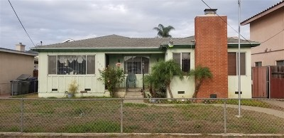 Imperial Beach Single Family Home For Sale: 846 10th St