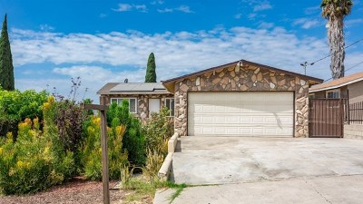 Spring Valley Single Family Home For Sale: 1106 Paraiso Ave
