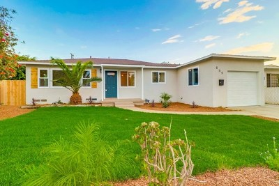 Imperial Beach Single Family Home For Sale: 555 Calla Ave