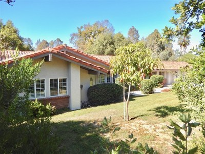Fallbrook Single Family Home For Sale: 4959 Sleeping Indian Rd