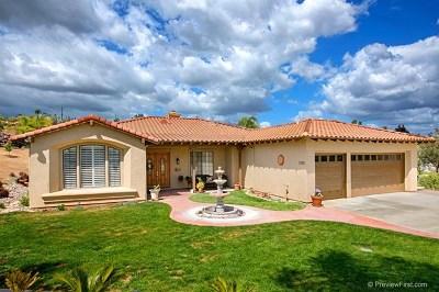 Fallbrook Single Family Home For Sale: 3182 Larkwood Ct