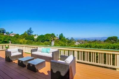 Escondido Single Family Home For Sale: 1172 Via Valle Vista