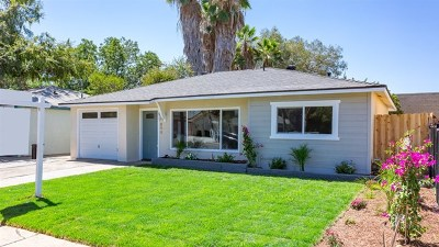 Escondido Single Family Home For Sale: 899 Gamble St
