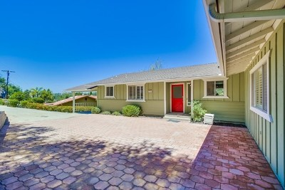 Fallbrook Single Family Home For Sale: 1754 Adalane Pl