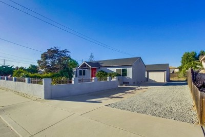 Lemon Grove Single Family Home For Sale: 7282 San Miguel Ave