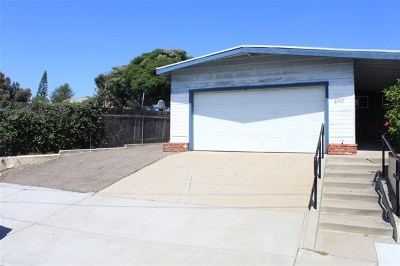 Lemon Grove Single Family Home For Sale: 2565 Skyline Dr