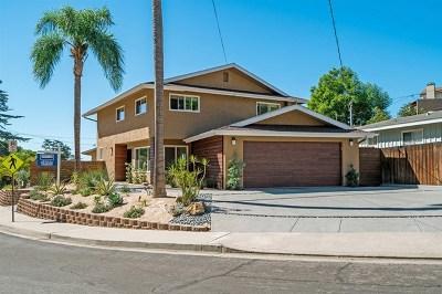 La Mesa Single Family Home For Sale: 8020 Windsor Dr.