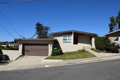 La Mesa Single Family Home For Sale: 9314 Horton Drive