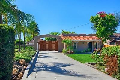 La Mesa Single Family Home For Sale: 4470 Maple Ave