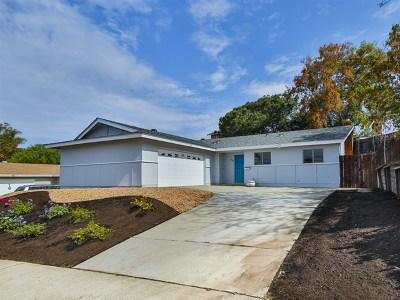 La Mesa Single Family Home For Sale: 8588 Echo Dr