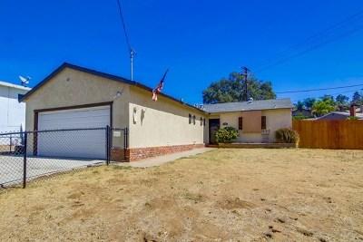 El Cajon Single Family Home For Sale: 1201 N 3rd Street
