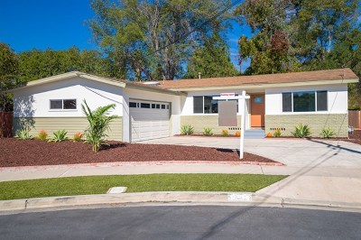La Mesa Single Family Home For Sale: 7770 Ropalt St