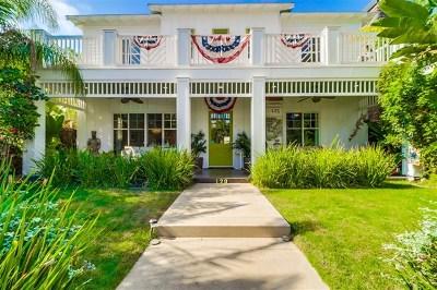 Coronado Single Family Home For Sale: 120 I Avenue