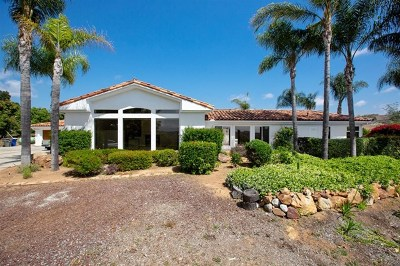 Fallbrook Single Family Home For Sale: 3786 Foxglove Ln