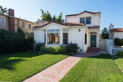 Coronado Single Family Home For Sale: 656 A Ave