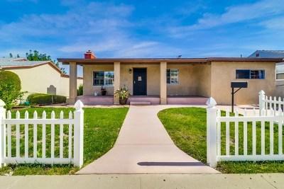 El Cajon Single Family Home For Sale: 657 N Pierce St