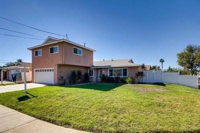 El Cajon Single Family Home For Sale: 804 Salina St