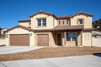 Escondido Single Family Home For Sale: 1213 Stockton Place